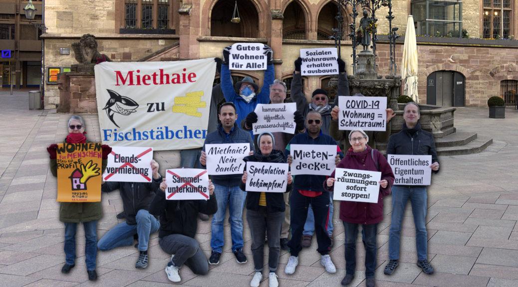 Fotomontage Protestgruppe zum Housing Action Day 2020 in Göttingen