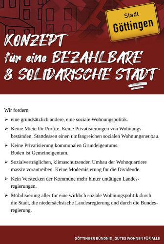 Titelseite des Konzepts für eine bezahlbare und solidarische Stadt